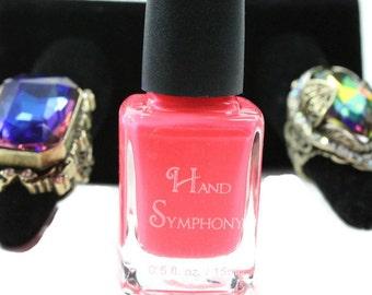 LOL~Pink Nail Polish,Neon Pink Nail Polish,5 Free Nail Polish,Hot Pink Nail Polish,Neon Polish,Vegan Nail Polish,Nail Art,Indi Nail Polish