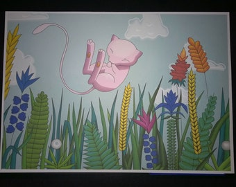 Mew Pokemon poster, Signed by the Artist! Great quality Prints. SALE