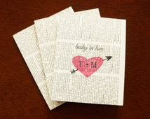 Wedding Favors, Lottery Ticket Holders, Scratch Off Ticket Thank You Card - Custom Initials