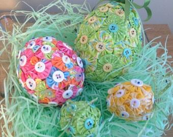 Fabric YoYo Easter Egg Set