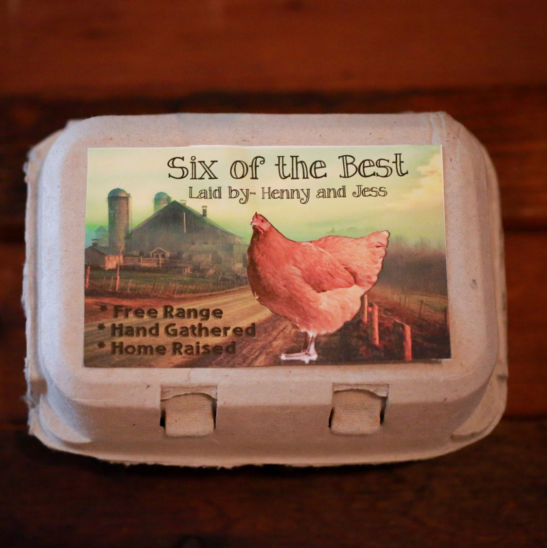 Custom personalized egg carton labels chicken coop supplies for Design your own egg boxes