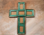 rustic wooden cross photo frames barnwood custom built painted