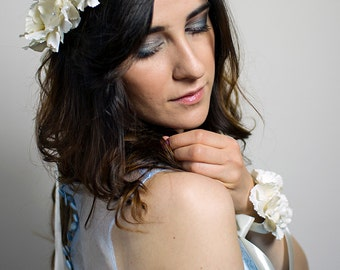 Floral Bridal Crown Flower Wedding Headband Bridesmaids Floral Headpiece