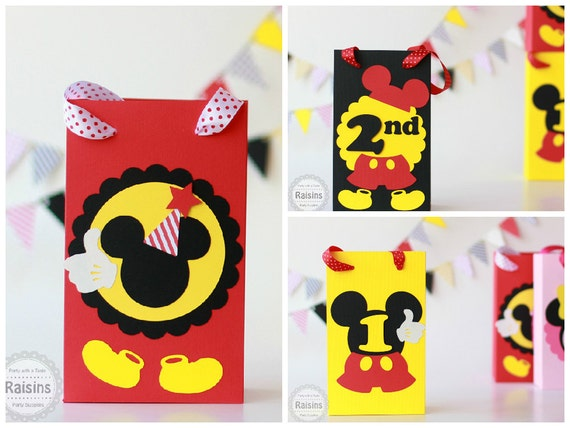 Candy bags disney clubhouse first birthday party ideas party favors