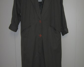 "Vintage 90""s Lightweight Dark Gray Coat Size S"