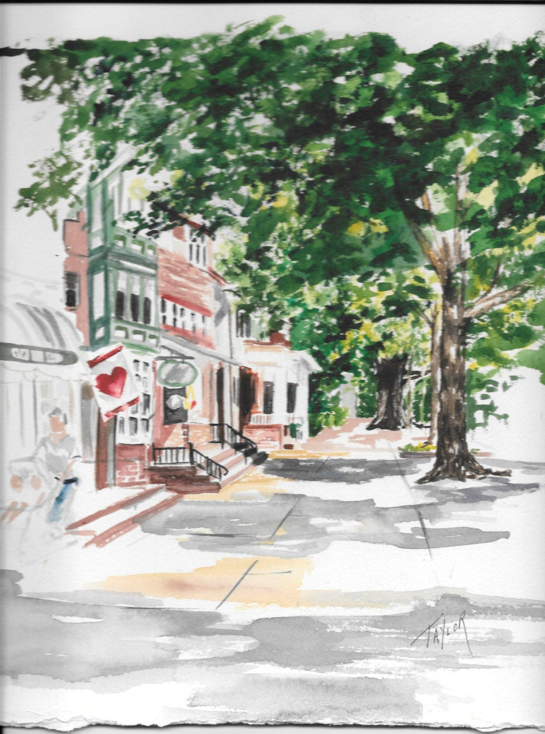 Main Street America By Caroltaylorart On Etsy