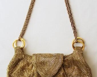 Gold Beaded Walborg Purse 1960