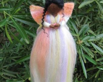 Needle Felted Merino Wool Rovings Fairy/Angel Hanging Gift