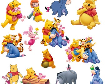 Winnie the Pooh Clipart, Instant Download, PNG files PC-081
