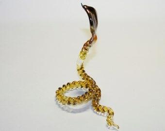 Glass figurine Cobra snake handmade #162