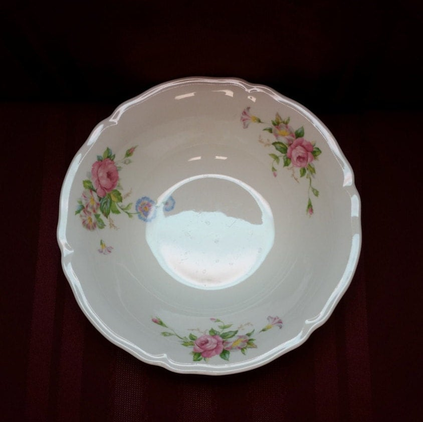 ANTIQUE 1943 Edwin M. Knowles China Co. 43-12 Round Serving