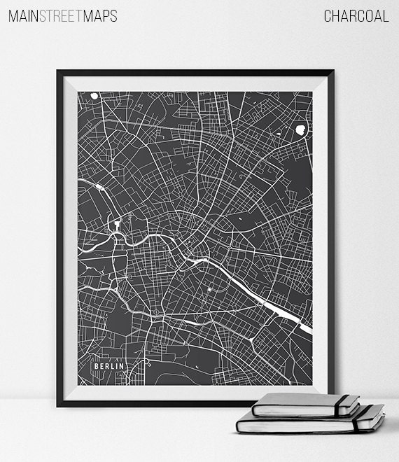 berlin karte berlin stadtplan berlin kunst poster deutschland. Black Bedroom Furniture Sets. Home Design Ideas