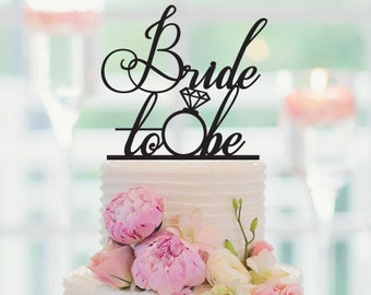 Wedding Cake Topper Bride To Be Cake Decoration Personalized