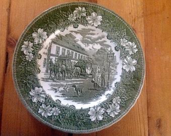Coaching Taverns 1828 Royal Tudor Ware Dinner Plate