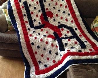 USA Hand Crochet Afghan