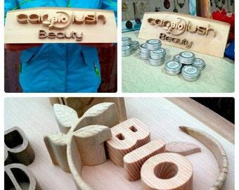 Medium Size Logo Sign / Custom Wooden Logo / Your Blog Name Logo / Business Identity / FREE DESIGN DEVELOPMENT