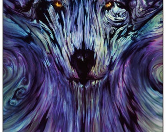Drift Wolf Tapestry