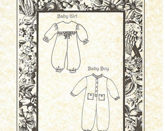 "11"" Baby Jumpsuits Pattern"
