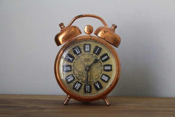 Vintage MOM Copper Alarm Clock by CandaceMakes on Etsy