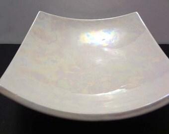 Iridescent square bowl