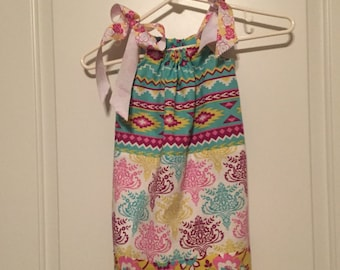 3 print PillowCase Dress