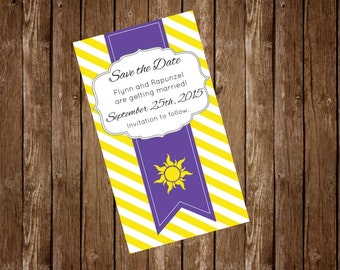 Tangled Wedding Save the Date