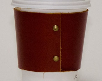 Leather coffee/tea cup insulator