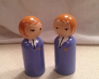 Ouran High Hikaru & Kaoru Hitachiin twins peg doll set
