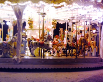 "Dreamy Carousel Photograph in Italy - ""Carosello"""