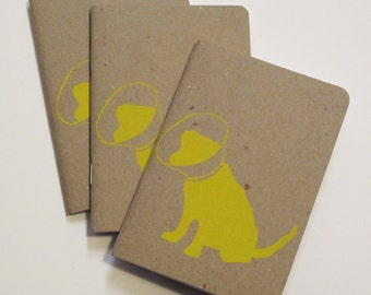 Poor Pup Notebook Screen Printed Pocket Scout Book
