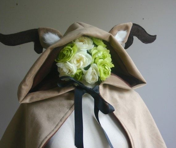 Oh Deer Hooded Capelet made to order