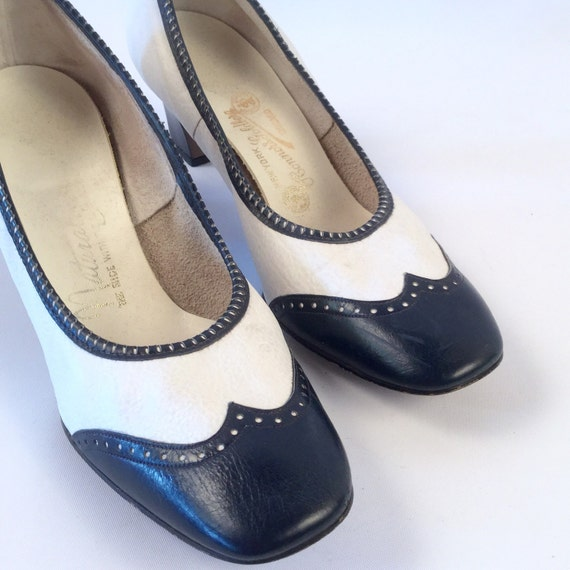 Navy White Spectator Shoes