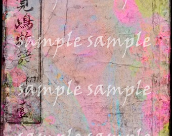 JournalingPage no6 - Instant download, Backgrounds, Scrapbooking paper, Printable journal page, Digital Download Collage sheets, Mixed media