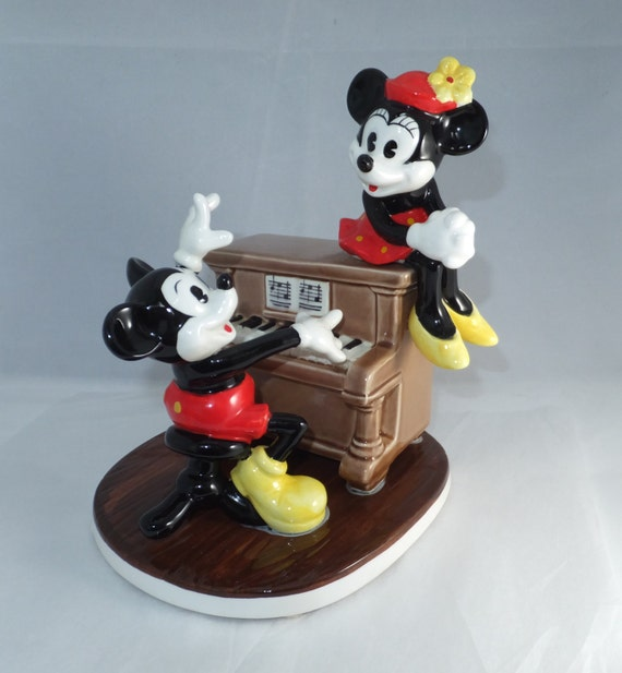 Vintage Disney Music Box Mickey Mouse And Minnie Mouse Made