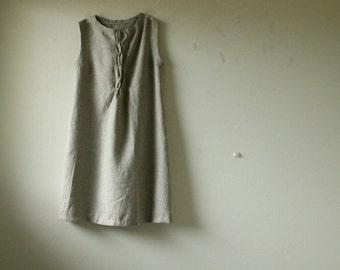 NATURAL LINEN DRESS - woffle / women's linen clothing / organic / flax / summer / eco / wedding dress / maxi dress / linen tunic pamelatang