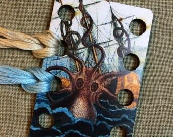 Collossal Octopus by Pierre de Montfort floss organizer wooden embroidery floss sorter thread keep