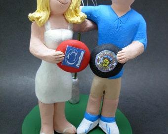 Frisbee Golfers Wedding Cake Topper