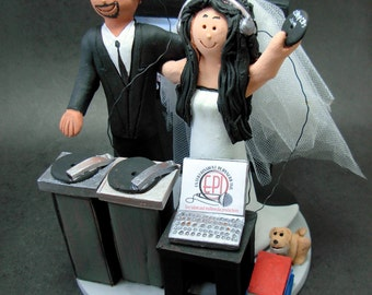 Hispanic Groom Marries American Bride Wedding Cake Topper - Custom Made to Order