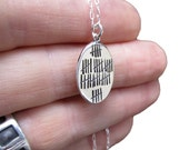 40th Birthday Necklace - 40th Anniversary Necklace - Who's Counting Reversible Sterling Silver Necklace