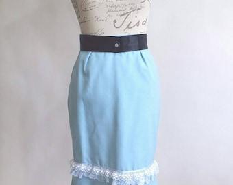 Light Blue Pencil Skirt