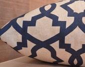 Add Personalization - DESIGNER Pet Bed Duvet Cover - Stuff with Pillows - YOU Choose Fabric - Sheffield Indigo Blue Laken shown