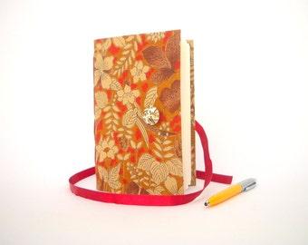 Brown beige flowers journal notebook Writing journal diary teen gift handmade woodland journal lined journal mom gift sister gift autumn