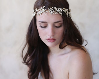Crystal ornate bridal headband - Crystal dazzle ornate headband - Style 519 - Made to Order