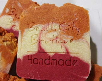 Asiatic Lily and Cantaloupe Handmade Cold Process Soap JUMBO