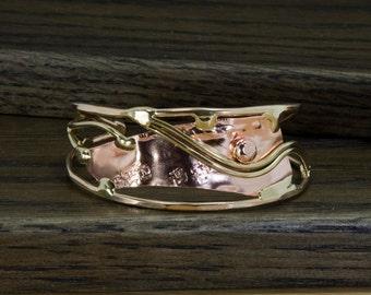 Mixed metal cuff bracelet
