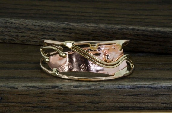 Mixed metal cuff bracelet