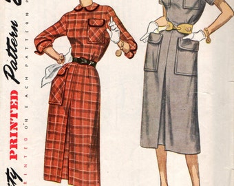 Simplicity 3312 Vintage 1950 TRULY TEEN STYLE Dress
