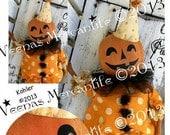 Halloween Primitive Doll Pattern Pumpkin Clown PDF E Pattern epattern email E-Pattern Clown Vintage Style Patterns Sewing Decoration