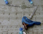 Polymer Clay Hand Painted Bird Necklace