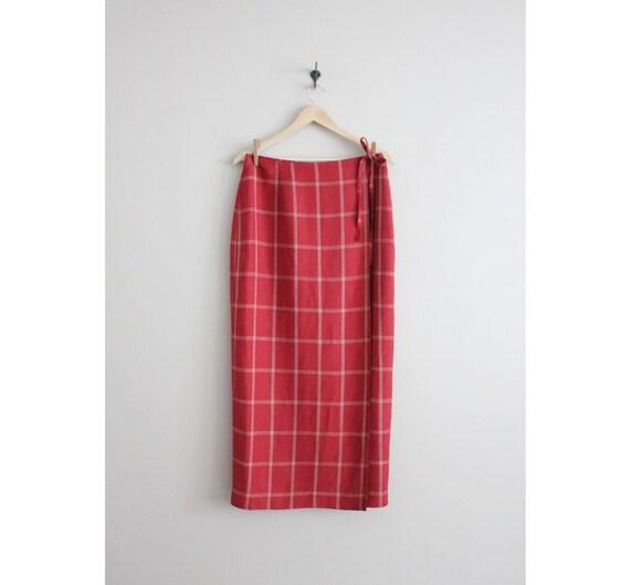 Long Plaid Skirt 48